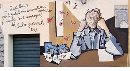 Murales su Luigi Pintor a Orgosolo