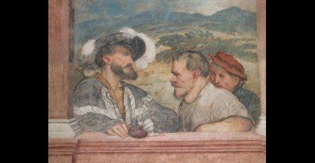 Paga degli operai (affresco del Romanino, 1531-1532, Trento)