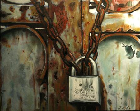 cancello arrugginito con lucchetto -  di Francesco Federighi