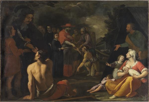 San Carlo e l'elemosina