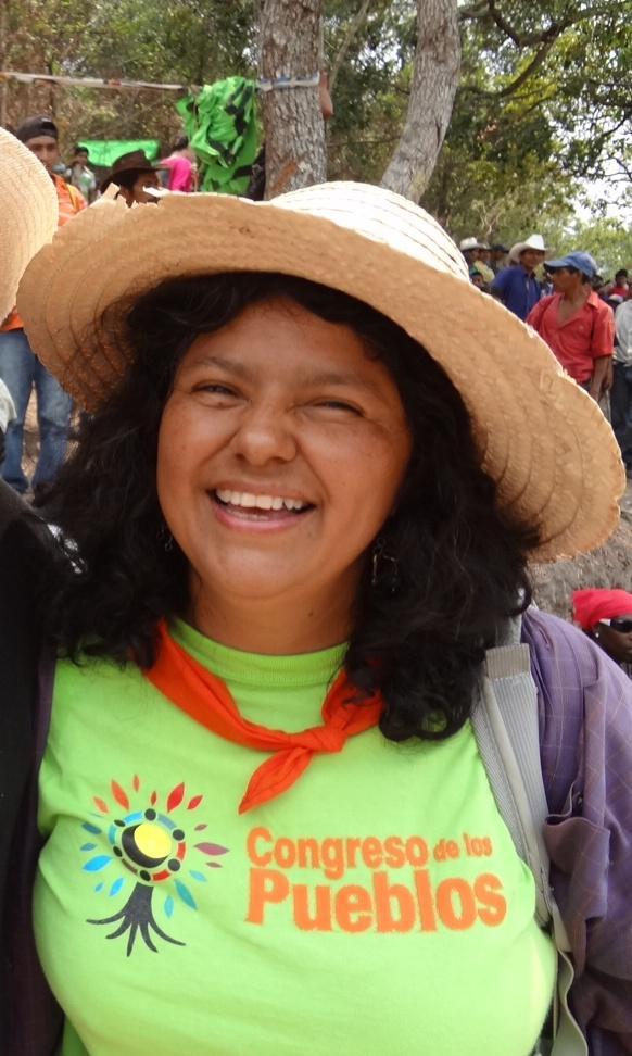 Berta Cáceres, coordinatrice del COPINH