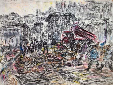 Quadro di Guido Borgianni Dopo l'Alluvione 1966
