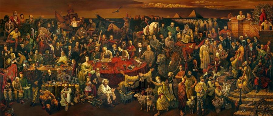 Il dipinto dei pittori cinesi Dai Dudu, Li Tiezi e Zhang An