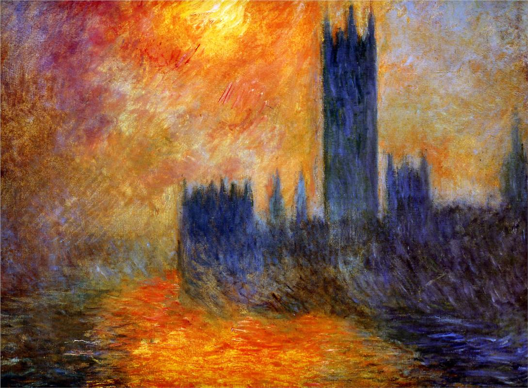 house-of-parliament - monet