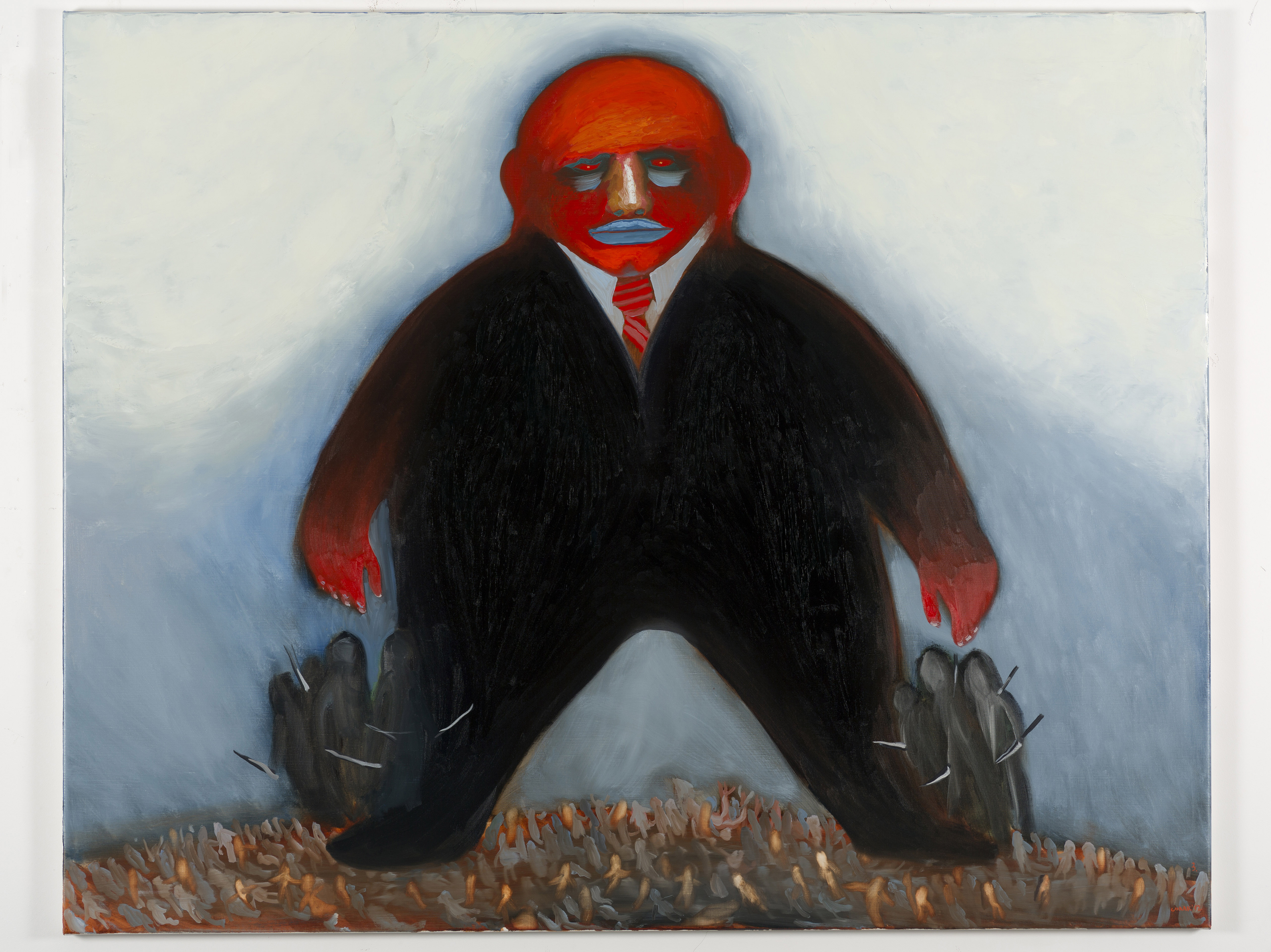 Nedko Solakov Paintings with No Texts #3 (A Romantic Tyran in a State of Democracy) 2012
