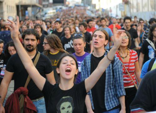 Manifestazione degli studenti La Sapienza