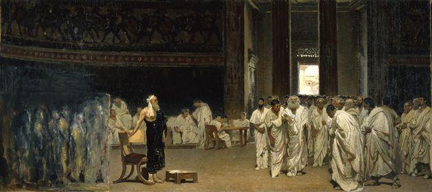 Cesare Maccari, Ingresso di Appio Claudio in Senato