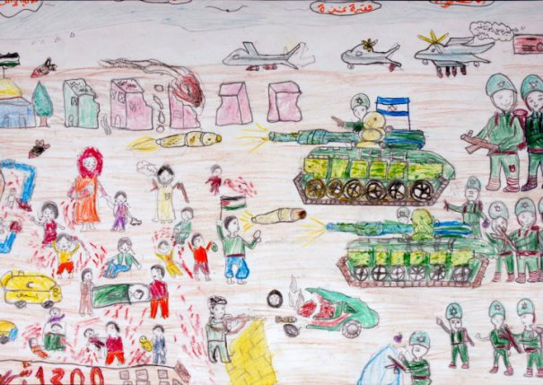 Gaza vista dai disegni dei suoi bimbi