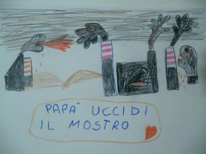20121020_ilva_disegno_bambino_papa_uccidi_il_mostro