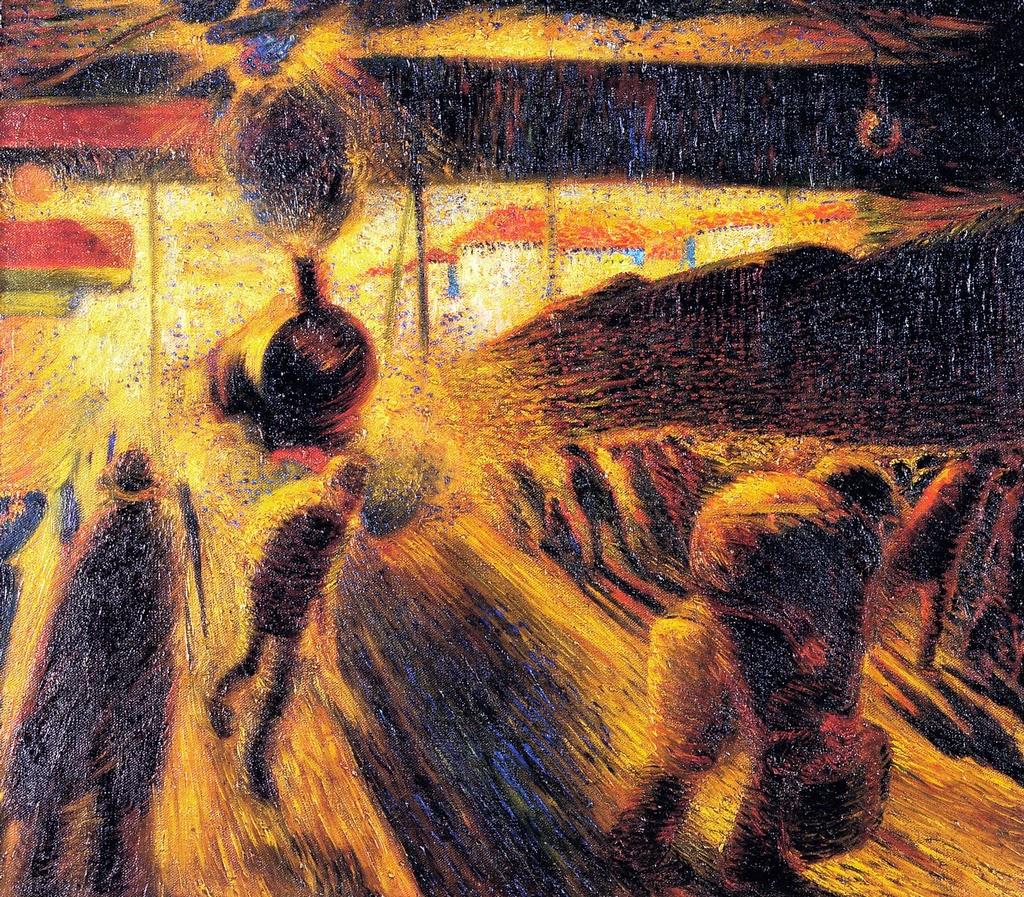 carlo carrà - la stazion e di milano - 1911