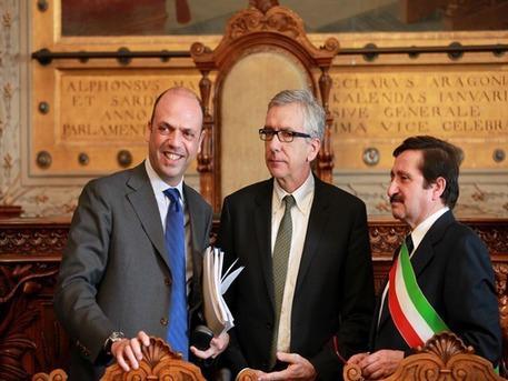 Alfano a Cagliari con Pigliaru e Scano