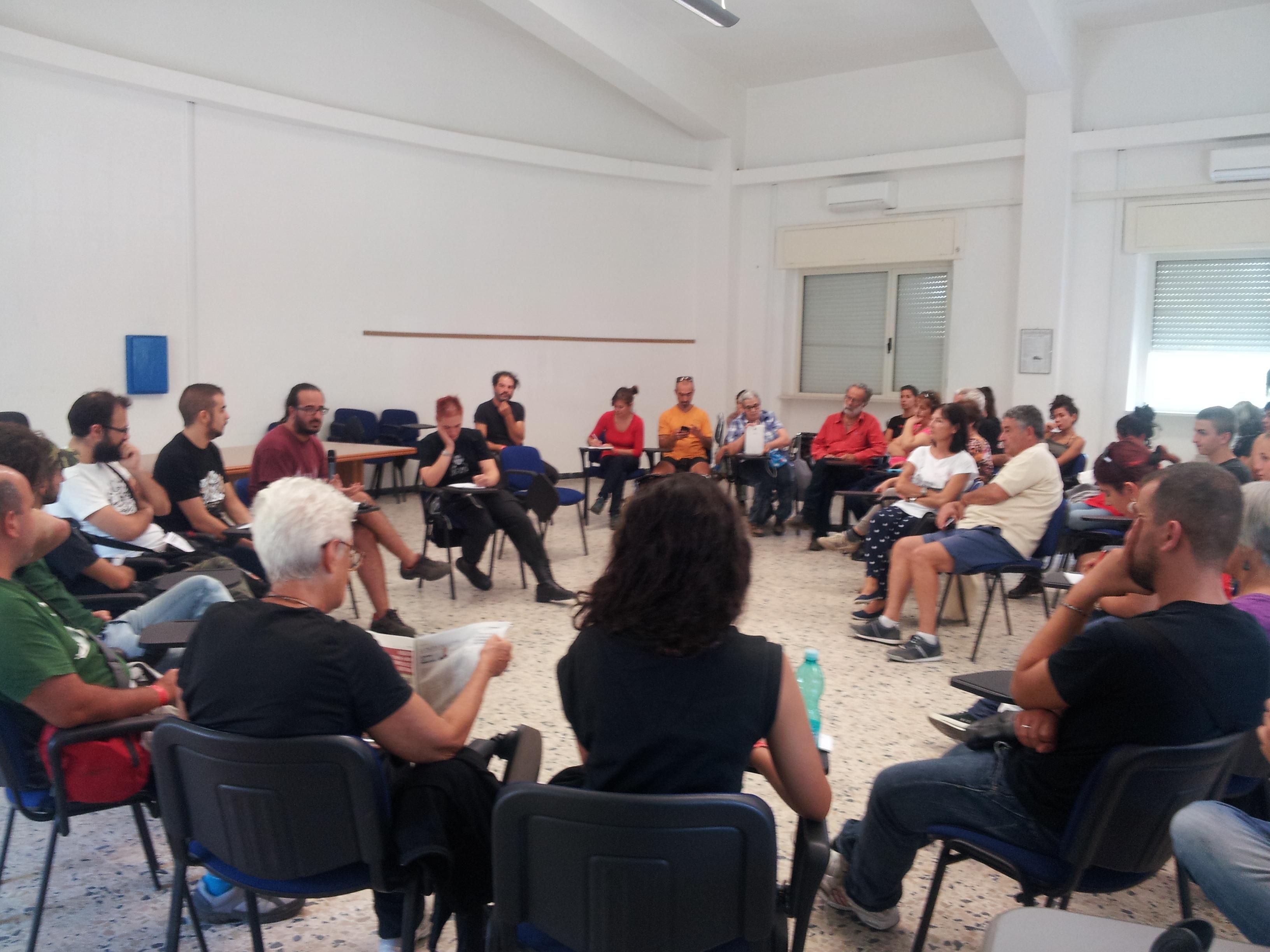 A Foras Camp. Assemblea contro l'occupazione militare della Sardegna