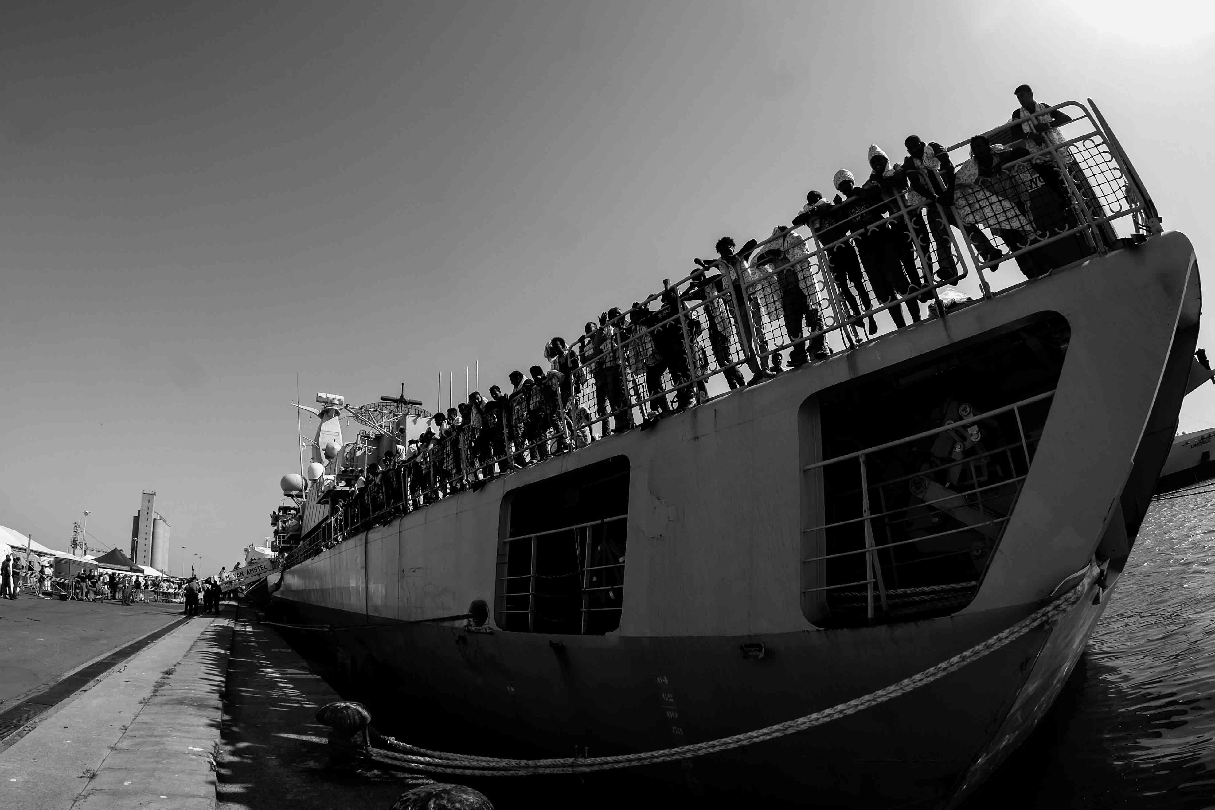 Migranti a Cagliari - Foto Roberto Pili