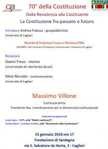 Democrazia Oggi - Lunedì celebriamo il 70° della Costituzione (nel ricordo di Francesco Cocco e Vincenzo Pillai)